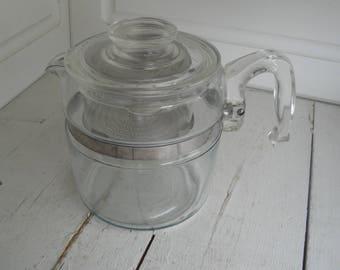 Vintage Pyrex Percolator 6 Cup Flameware 7756 B