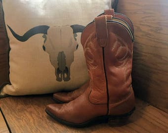 Wrangler sz 8.5 Leather Cowboy Boots