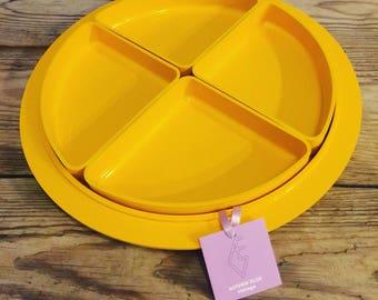Vintage Plastic Snack Tray