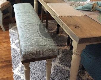 Custom Sewn Bench Seat Cushion With Cording Playroom, Nursery, Window Seat  , Chair Pad