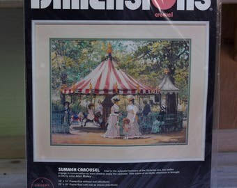 Dimensions Crewel Kit Summer Carousel