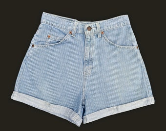Vintage Levis Shorts High Rise Blue Jean Shorts Womens 80s High Waist Denim Shorts Levi Shorts Levis 954 Orange Tab Denim Shorts 26 W