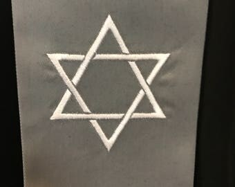 Clergy Stole with Star of David and Christian Cross