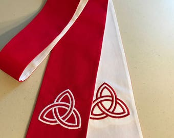 Reversible Clergy Stole with Trinity