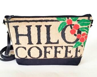 Recycled Coffee Bag Crossbody Purse