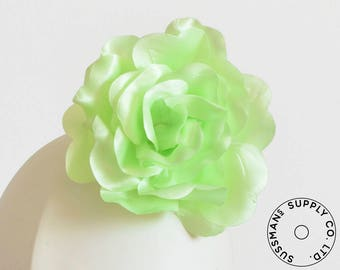 "Millinery Flower - Beth Super Sheen Neon Flower - Green - 4.5"" (1pc)"
