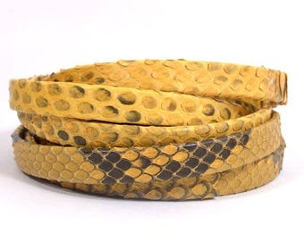 10mm Genuine Python Skin - Yellow - Choose Your Length