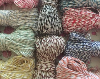 Baker's Twine 10 Pretty Colors-100 Yards(300 feet)Bonus Free 10 Yards(30 free feet) You Pick Colors