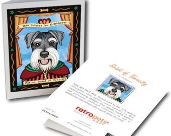 "Schnauzer Art ""Saint of Tenacity"" 6 Small Greeting Cards by Krista Brooks"