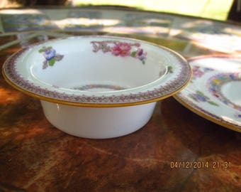 Antique Royal Doulton Orient E-5697 Porcelain China Custard Ramekin with Saucer Circa 1919