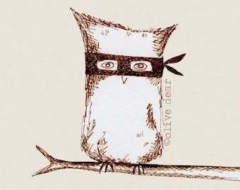 Masked Owl - fine art pigment print