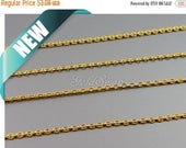 10% SALE 1 meter linked snake chain 1.5mm gold chains, gold plated brass chain, gold jewelry chains B143-BG
