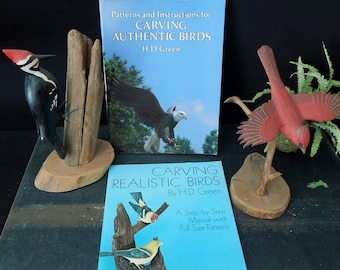 Art Sculpting Birds - Vintage How To Art Craft Sculpture Books -  Carving Authentic Birds / Realistic Birds - Gift for Artist Sculptor