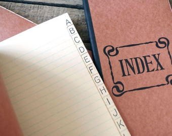 Vintage Blank Index Book NOS - Unused 1940s Blank Index Book Extra Long - Vintage Paperback A to Z Index Book
