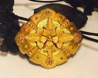CIJ SALE Christmas JULY Beautiful Victorian Renascence Ornate Gold Brooch