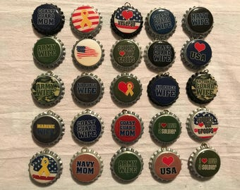 "Bottle caps ""Military"""