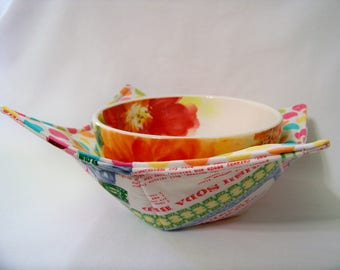 Microwave Bowl Cozy - Just Desserts - Bowl Pot Holder - Reversible -  Ready to Ship