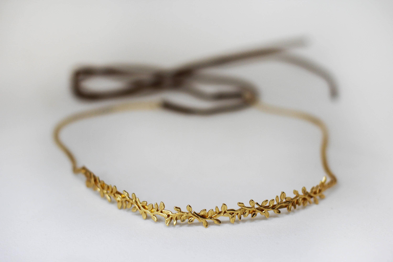 Headbands Turbans Halo I Tie Headband Black Jaime Wreath Durable Hair Chain Romantic Tiara Golden Leaves Fairy Crown