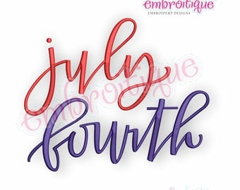July Fourth  -Instant Download Machine Embroidery Design