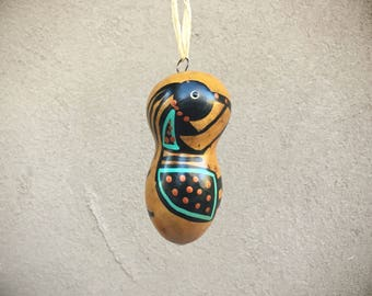 Kokopelli Ornament Native Style Gourd Ornament, Southwestern Christmas Decor