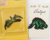 Dinosaur Appliques, Stegosaurus and Pterodactyl