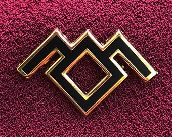 Twin Peaks Black Lodge Enamel Pin