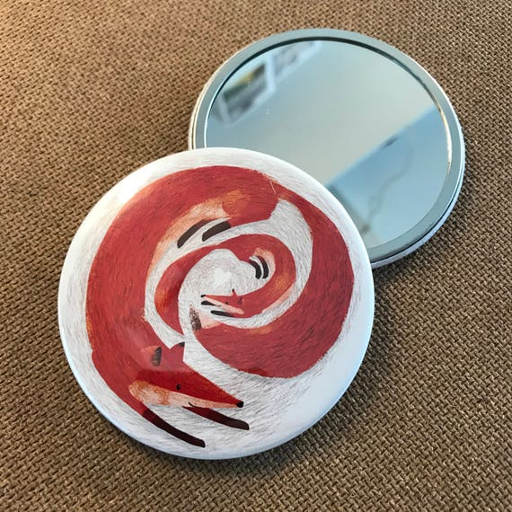 Fox & Cub - Pocket Mirror