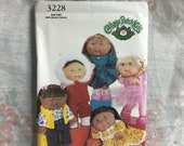 Butterick 3228, Cabbage Patch, Kids, Doll Clothes, clothes pattern only, sewing pattern uncut