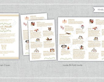 Hindu Wedding Program. Program. Reception. Wedding Program. - Deposit