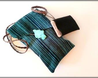 Cell Phone Bag - Passport Bag - Crossbody Bag in Navy, Blues, turqouise
