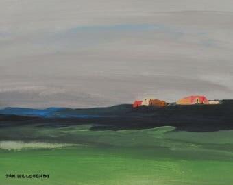 """wall art - """"North Mesa"""" - original acrylic painting - home decor"""