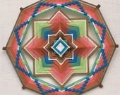 Sagebrush Path, an 18 inch, 8-sided Ojo de Dios, by S. Herbert