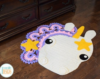 NEW PATTERN Sophia the Starry Unicorn Rug PDF Crochet Pattern with Instant Download