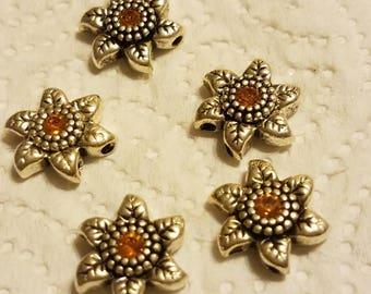 Beautiful Sun Orange Star/Flower Sliders/Spacers