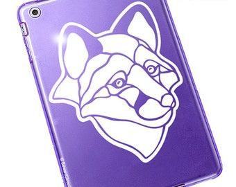 "Fox Decal / Fox Head Laptop Decal / Fox Car Sticker / Fox Window Sticker / Fox Vinyl Decal / Woodland Fox Sticker / 7.50""h x 6.50""w / #387"