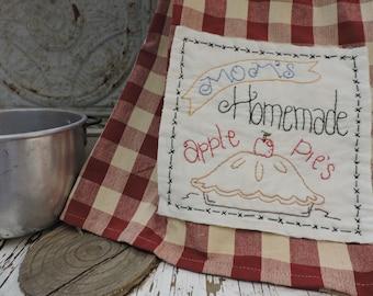 Instant Download Moms Apple Pie Dish Towel Pattern