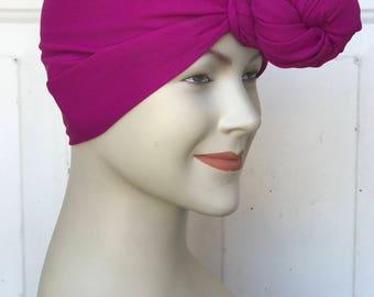 Multi Use Handkerchief Scarf - Fuchsia Georgette