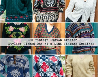 Chunky Knit Sweater - Winter Sweater Vintage - Plus Size Sweater - Vintage Sweater - Oversized Sweater - Hipster Sweater - Gifts for Her