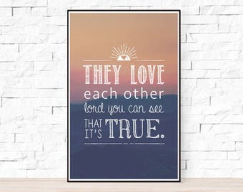 Grateful Dead Song Lyrics Poster - They Love Each Other