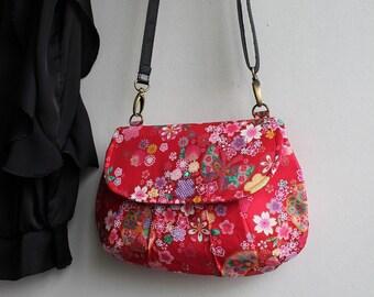 Clutch bag evening bag magnetic closure - golden red - Miya