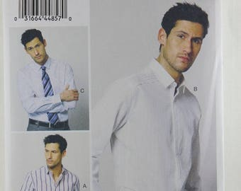 ON SALE Vogue 8889, Men's Shirt Sewing Pattern, Men's Loose-fitting Shirt Pattern, Vogue Pattern, Men's Sizes 40, 42, 44, 46, New and Uncut