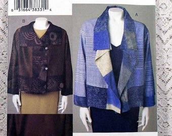 ON SALE Vogue 7907, Misses' Jacket Sewing Pattern, Marcy Tilton Sewing Pattern, Misses' Patterns, Misses' Size L, Xl (16 to 22), Uncut