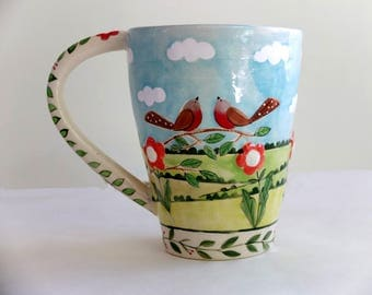 English Robin Mug, Coffee Mug  - READY TO SHIP
