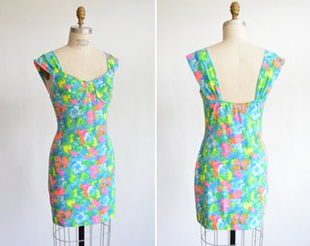 Vintage 1990s FLORAL bodycon dress