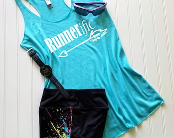 Runners Gift, Running tank top, Gym tank, Womens tank top, Fitness tank top,  Ladies tank top, Workout Tank Top, Runnerific, FREE Shipping!!