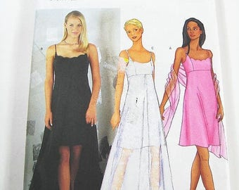 On Sale Butterick Dress Pattern 6860 - Misses' Dress and Scarf in Three Variations - SZ 12/14/16