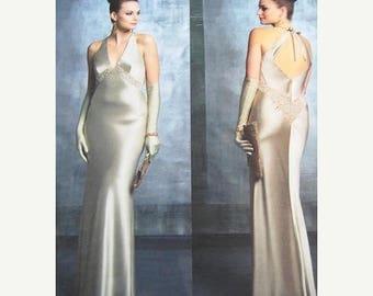 On Sale Vogue Dress Pattern V2840 - BELLVILLE SASSOON - Evening Dress -  Sizes 6/8/10