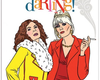Sweetie Darling Absolutely Fabulous Notecard