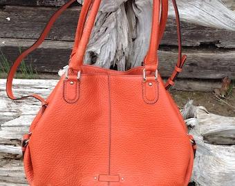 Cole Haan Orange Leather Bag