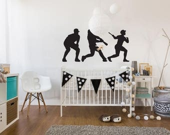 Vinyl Wall Sticker Decal Art - Baseball